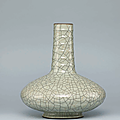 A ge-type glazed 'chrysanthemum' vase, yongzheng six-character seal mark in underglaze blue and of the period (1723-1735)
