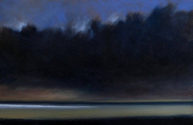 horizon elevation 114, pastel à l'huile, 48 x 32 cm, mai 2019