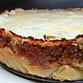 Gâteau de rigatoni bolognaise et ricotta / rigatoni's cake