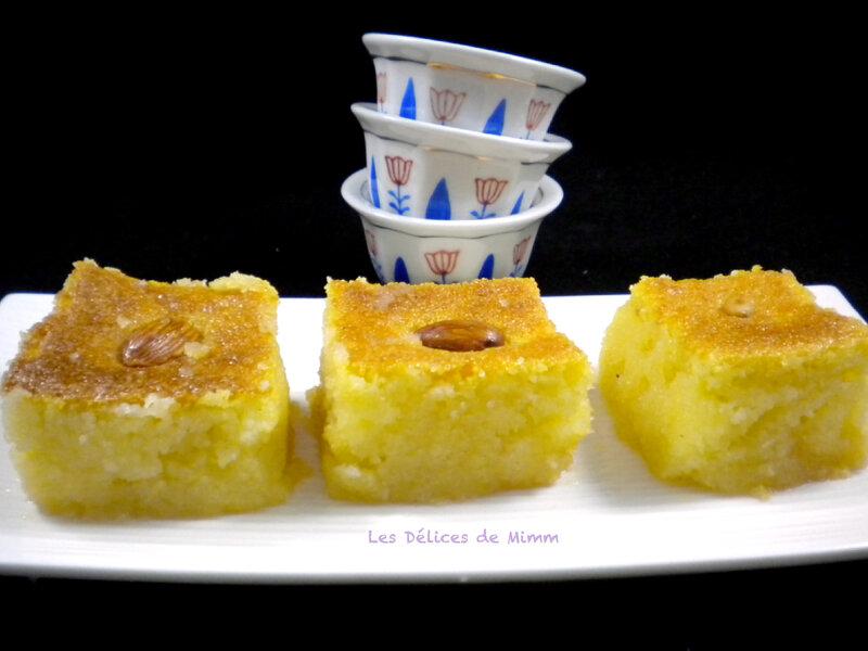 Namoura un petit gâteau de semoule libanais 5