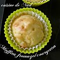 Muffins fromage/courgettes