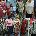 Patchwork des modèles réalisés cette année en atelier couture