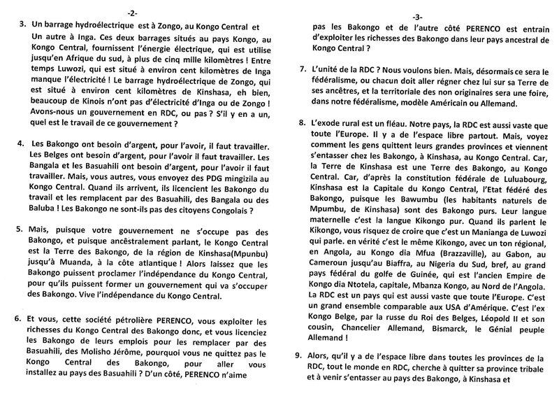 CETTE RDC A T-ELLE UN GOUVERNEMENT OUI OU NON b