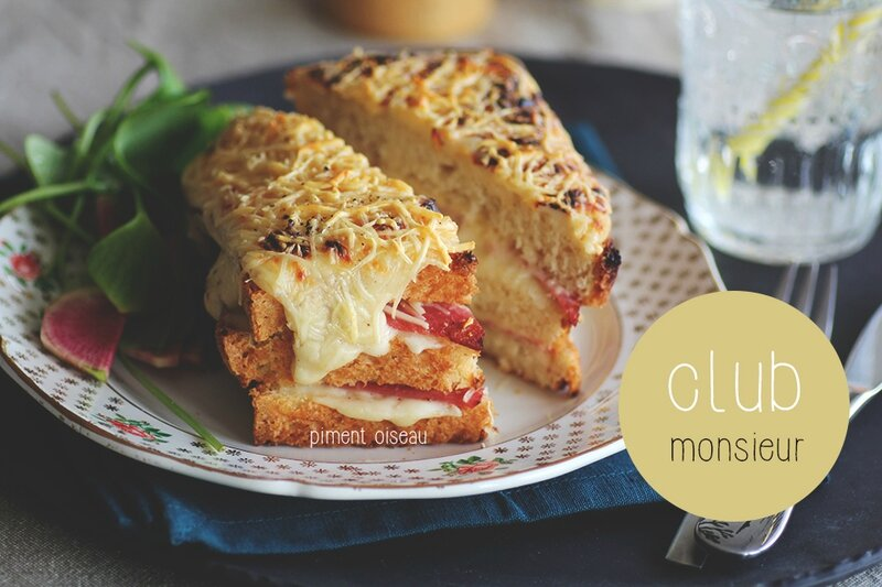 club monsieur-croque monsieur sandwich club