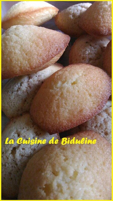 Madeleines (Nature/Praliné) - La Cuisine de Biduline