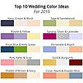 Les couleurs tendances pour un mariage en 2015