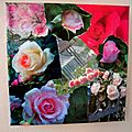 tableau collage roses