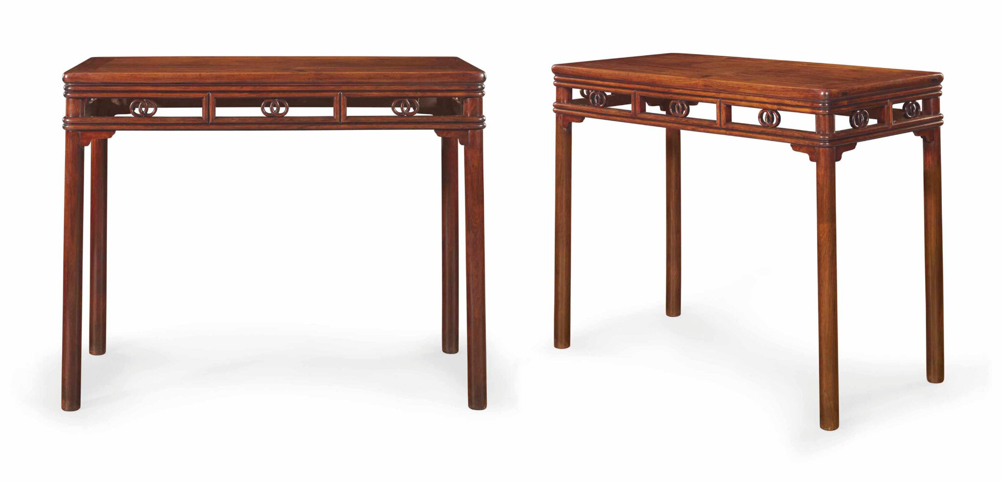 A Rare Huanghuali Rectangular Side Table 17th 18th Century Alain R Truong