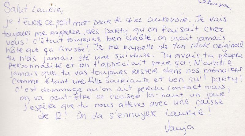 Message d'adieu