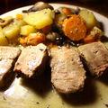 Rôti de veau aux 3 légumes