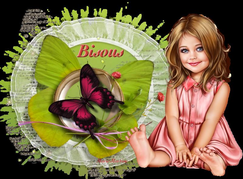 papillon et enfant