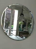 miroir rond gravé