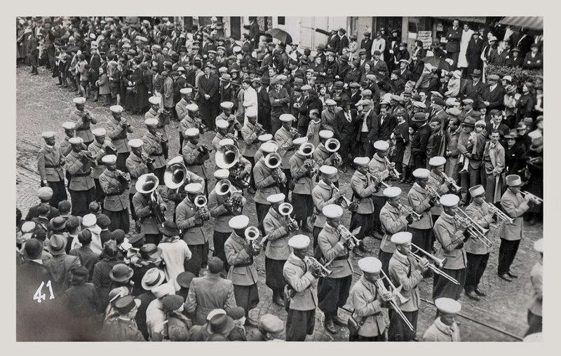 1922 03 26 Belfort CPhoto 38 Mi carême Jazz band SACM Fbg Ancêtres BF