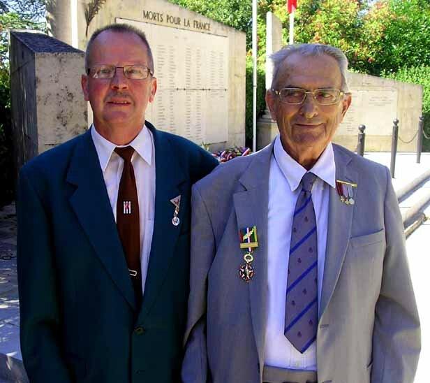 Messieurs Michel ANDRE et André ALAZARD, le 26 août 2015