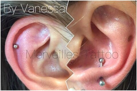 piercing cartilage, merveilles tattoo,