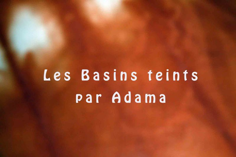 Basins teints - Burkina Faso