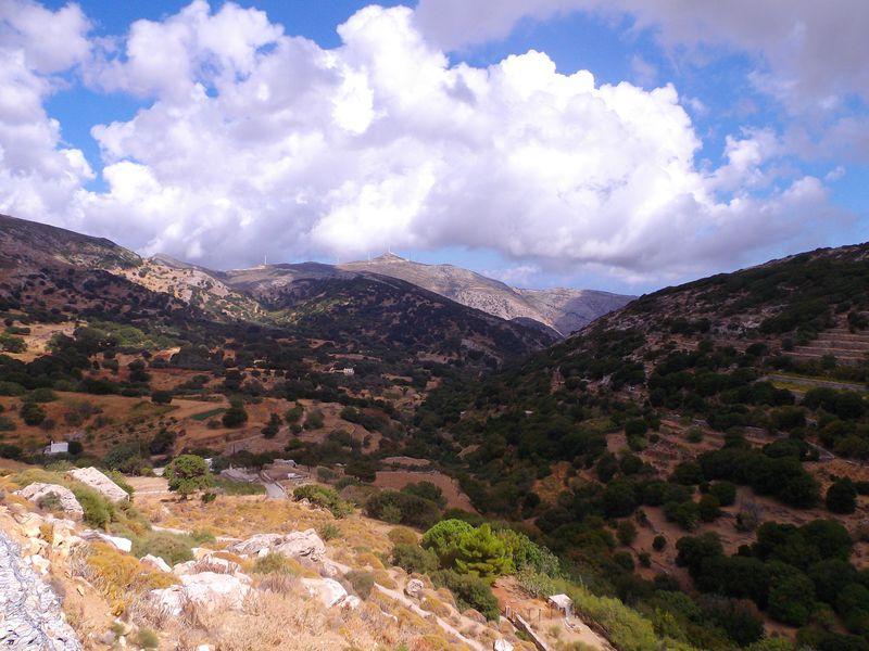 Visite de villages à Naxos...