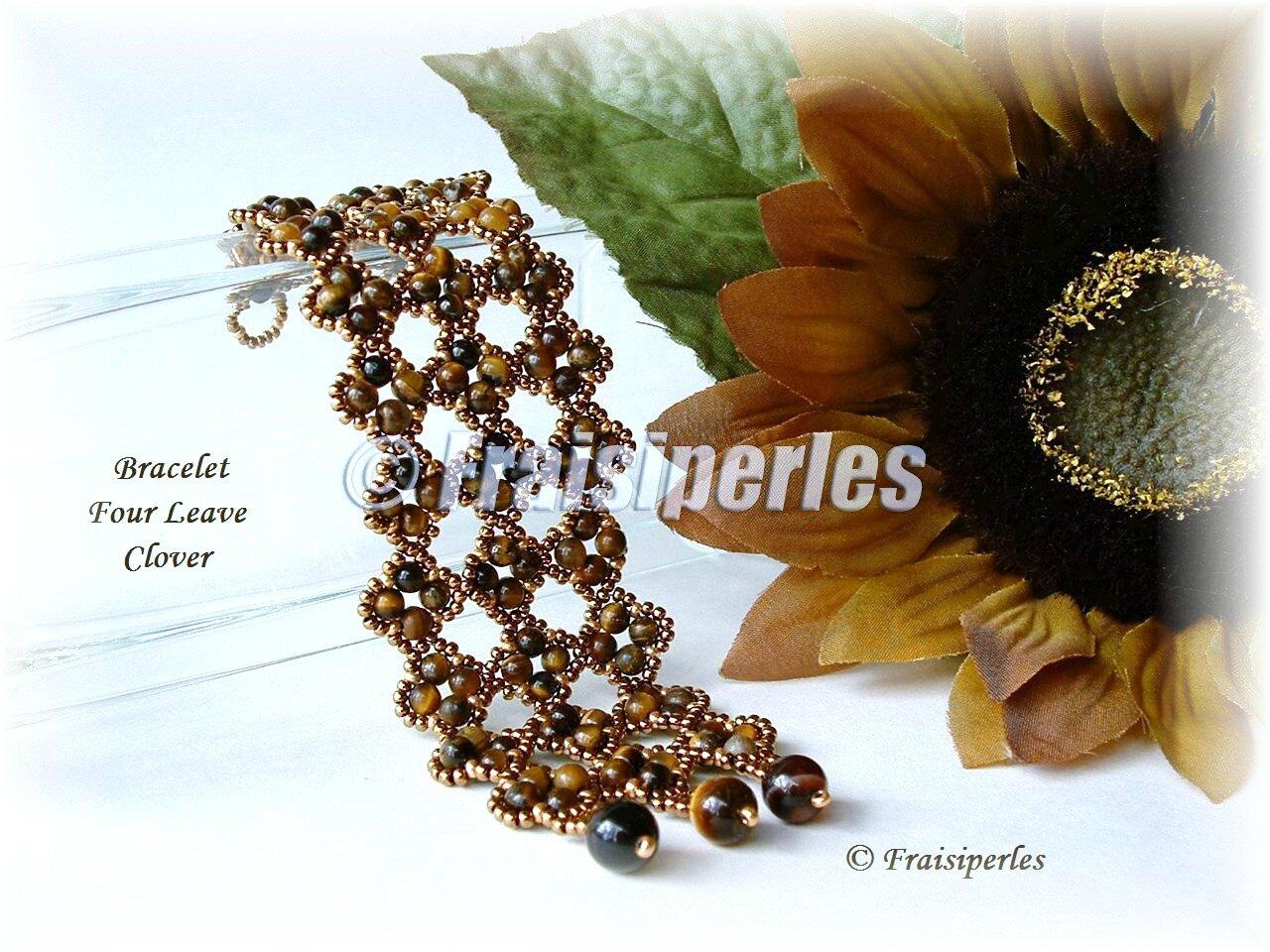 Bracelet Four leave clover-MANEK