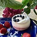 Vacherins à la fraise