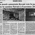 Article oise hebdo du 09 janvier 2013 sur la maison de la pierre