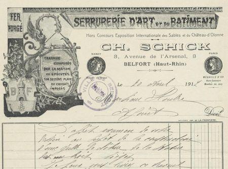 Monument 3 Sièges Gille Offre Schick 20 août 1912 001R