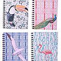 Carnets spiralés motifs papier japonais