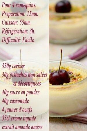 recette crème brûlée cerises
