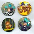 macarons ou badges cirque