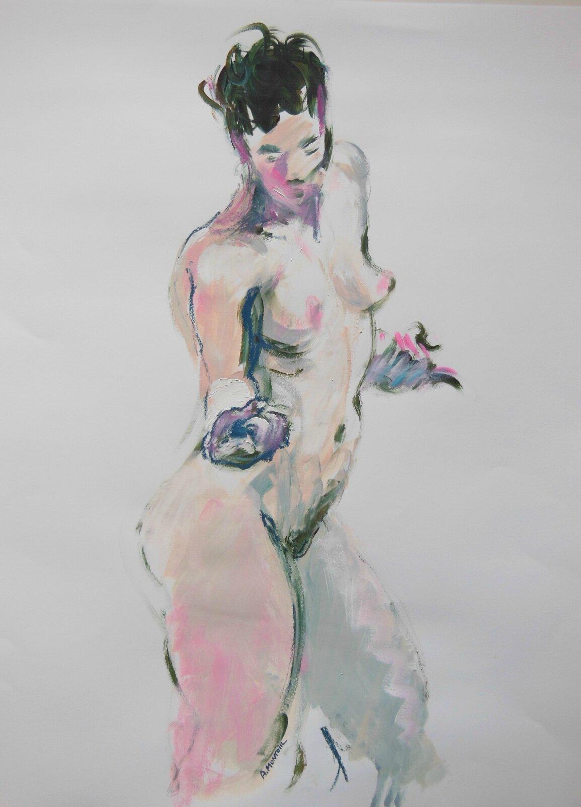 Marine dessin peinture tableau de nu contemporain (22)