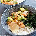 Poke bowl au saumon et colza alvenat