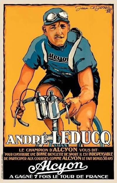 Carte postale André Leduc Cycle Alcyon
