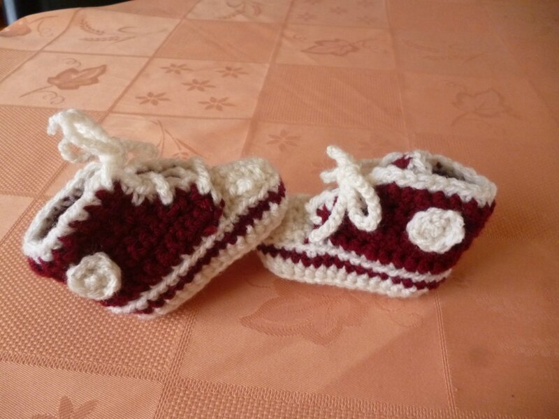 chaussons baskettes rouges (2)
