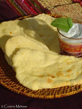 Cheese_naans_and_mint_sauce