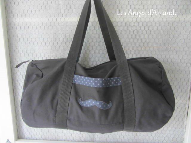sac polochon gris