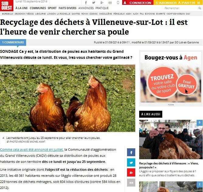 La nouvelle tendance pour réduire ces déchets... L'adoption de poules