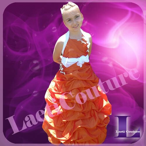 robe taffetas orange d'Alyssa3