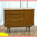 Commode buffet - mini enfilade vintage 1950