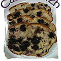 Cake aux mûres et poires