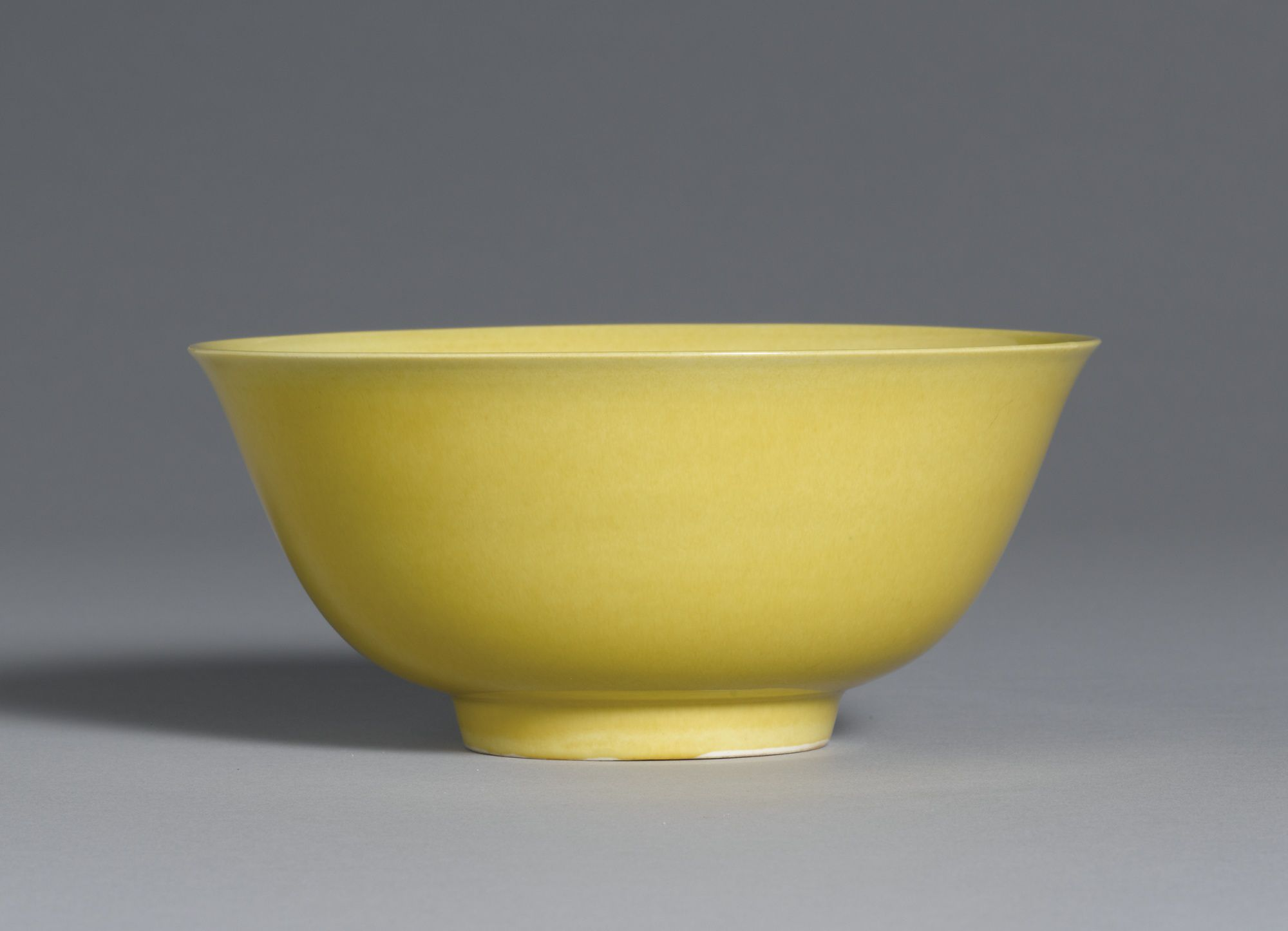 A yellow-glazed bowl, Mark and period of Zhengde. Photo: Sotheby's.