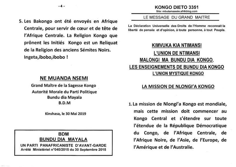 LA MISSION DE NLONGI'A KONGO a