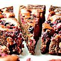 Moelleux chocolat au lait noisettes et fruits rouges