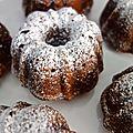 bundt cakes au sirop d'érable et aux noix de pécan