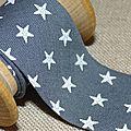 Biais france duval gris étoiles blanches