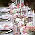 décoration-table-mariage-rose-gris-shabbychic