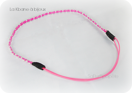 headband rose fluo3