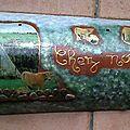 Tuile décorée -thème vaches