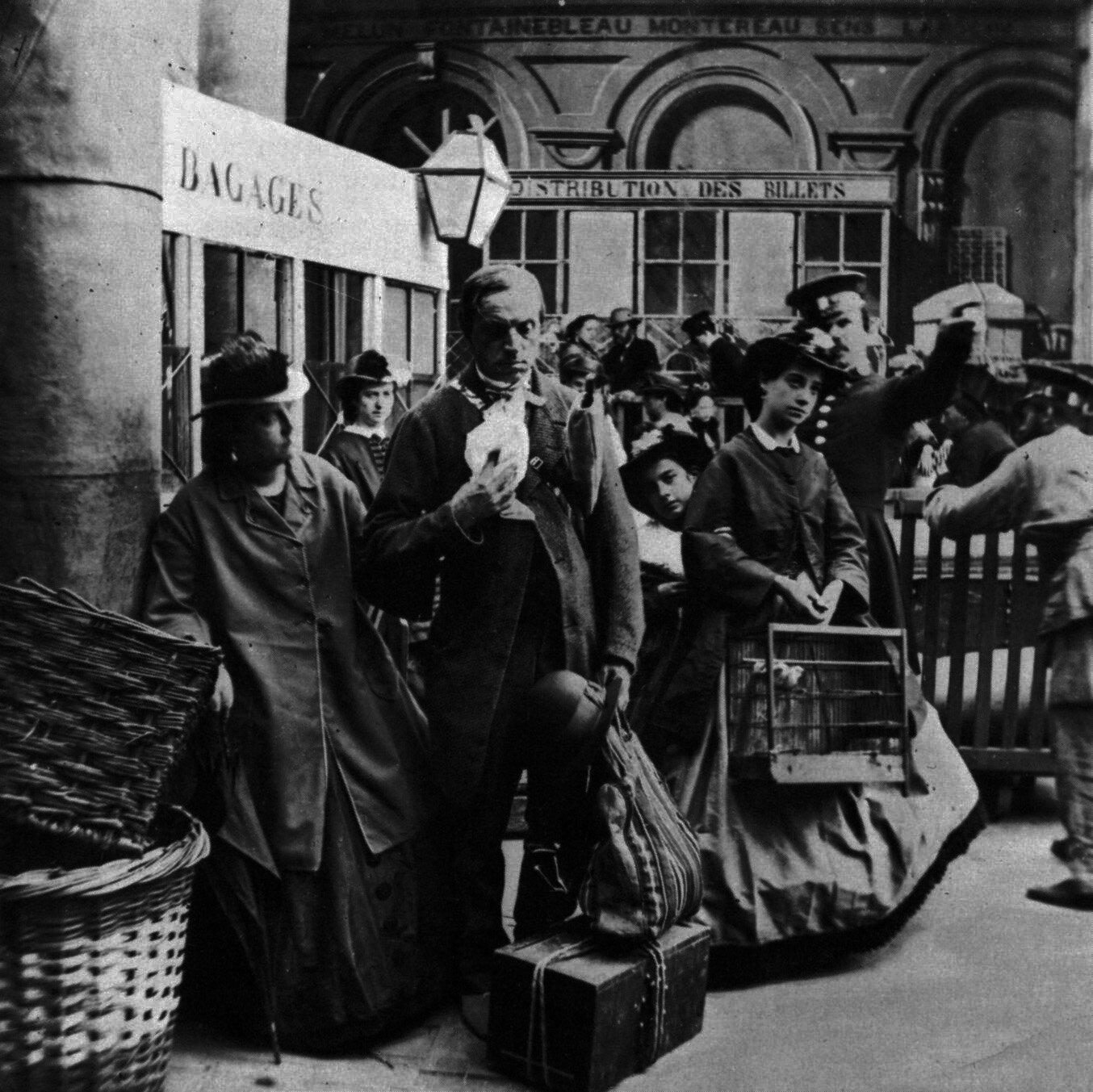 1852-1870 Voyageurs à la gare de Lyon