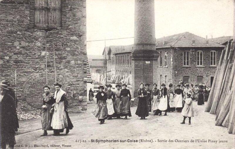 usine Pinay jeune sortie des ouvriers