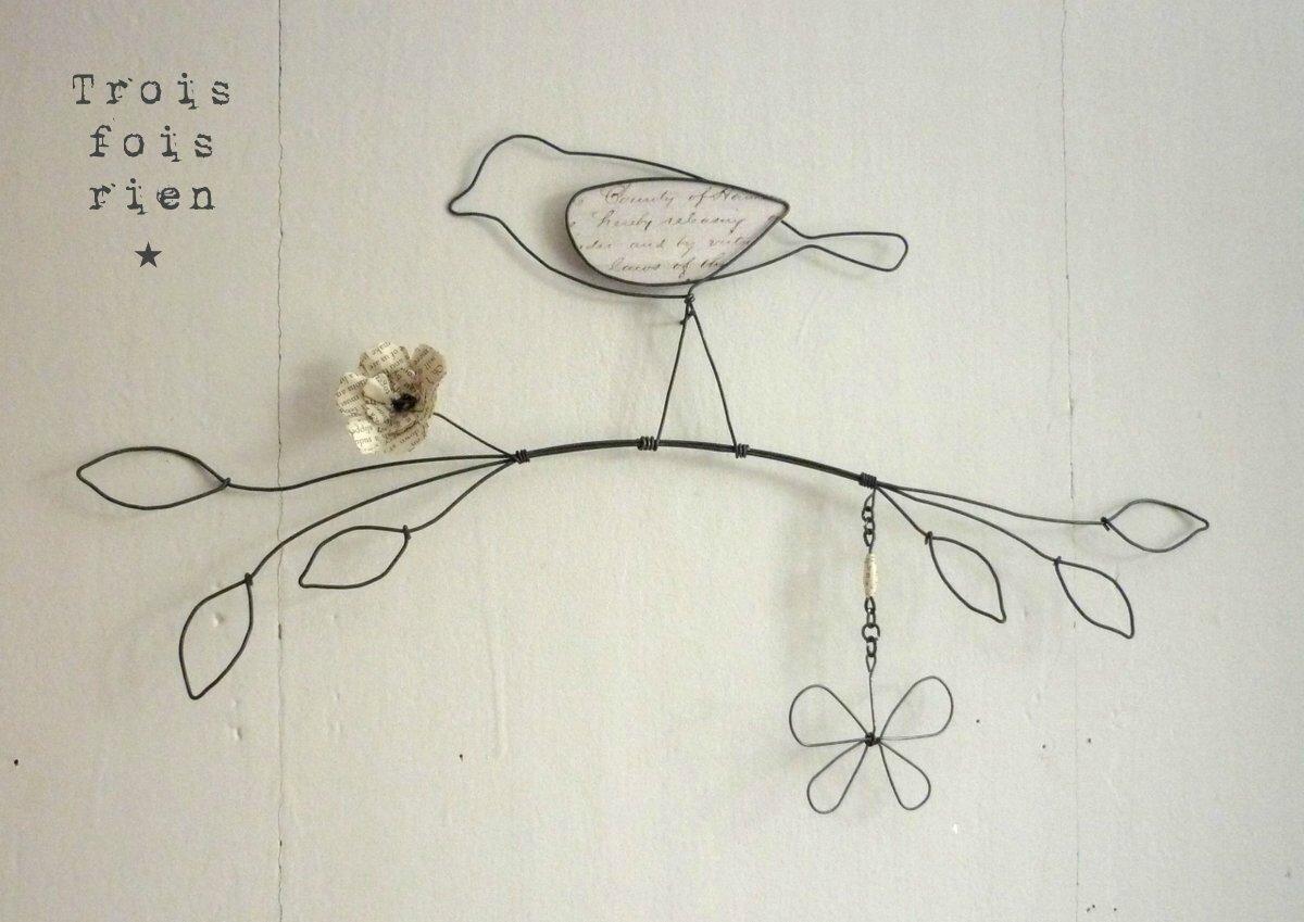oiseau fil de fer N° 6