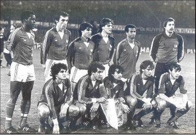 10 novembre 1982 PAYS-BAS FRANCE ... MARIUS TRÉSOR REJOINT ROGER MARCHE - 63 SÉLECTIONS
